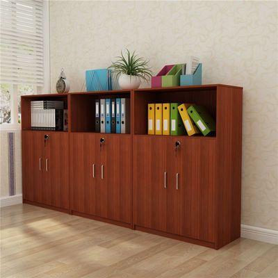 热销办公家具文件柜矮柜木质资料柜收纳柜茶水柜带锁办公室柜打印