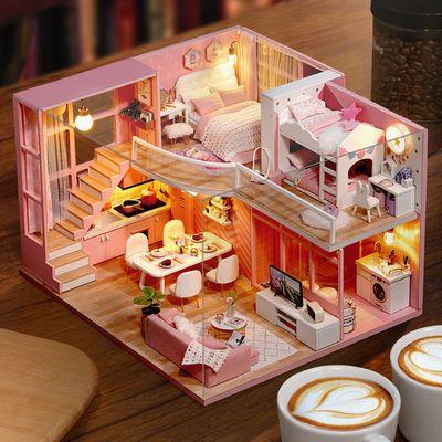 diy小屋手工拼装梦想天使可爱少女心娃娃屋创意玩具生日礼物女生