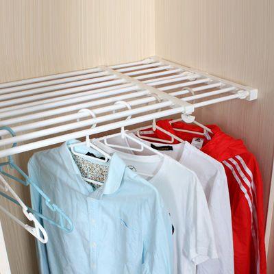 衣柜收纳分层隔板厨房免钉置物架橱柜浴室可伸缩分隔层架宿舍神器