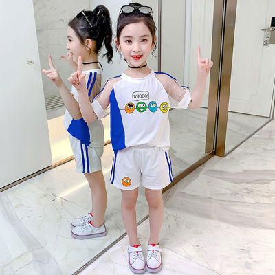 【特价清仓】童装夏装2020新款女童套装儿童洋气网红运动两件套女