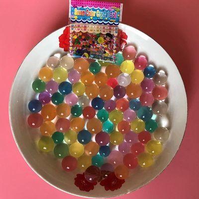 水舞珠珠水晶泥海绵宝宝吸水珠泡大珠水晶宝宝水培饰品水晶宝宝