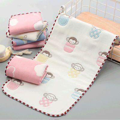 婴儿毛巾6层纯棉纱布口水巾洗脸小方巾新生儿童手绢喂奶巾六层