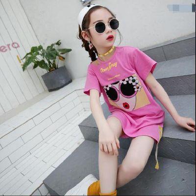 【特价清仓】女童短袖T恤2020夏装新款童装韩版大童中长款体恤儿