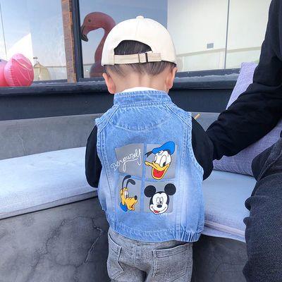 【特价清仓】儿童牛仔马甲男中小童洋气2020新款童装男童坎肩宝宝