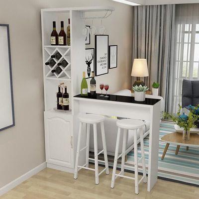 欧式客厅吧台桌 家用靠墙玄关隔断柜 现代简约钢化玻璃创意吧台桌