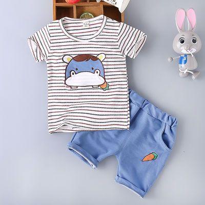 【特价清仓】童装男童中小童夏季2020短袖套装棉婴幼儿童1-2-3-5