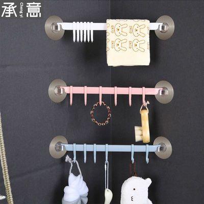 门后强力粘胶挂钩厨房墙壁挂6连排钩创意浴室免钉无痕挂架挂衣钩