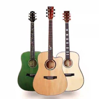全单民谣吉他手工木吉他德国工艺单板吉他全单板木吉他指弹吉他