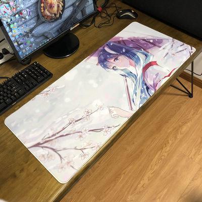 初音未来超大号鼠标垫miku二次元游戏办公键盘垫动漫桌垫电脑垫