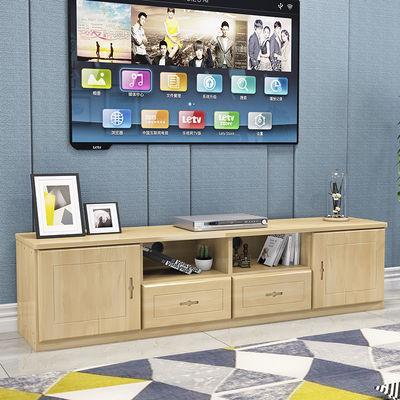 定制实木家具简约多功能组合矮柜落地客厅小户型实木柜松木电视柜