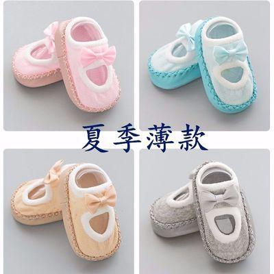 春夏季薄款婴儿袜子3-12个月宝宝学步鞋袜软底防滑纯棉儿童地板袜