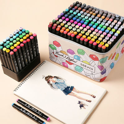 马克笔套装便宜touch全套小学生48色1000色双头彩色pop画笔水彩笔