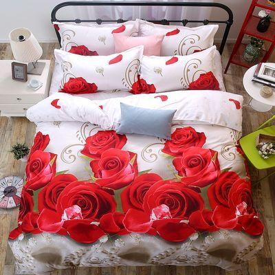 【缦夕家纺】夏季床上用品单人被套双人被套学生宿舍换洗印花被单