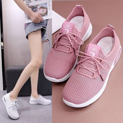 2020春夏季飞织运动鞋女士新款韩版休闲鞋小白鞋女单鞋网面跑步鞋