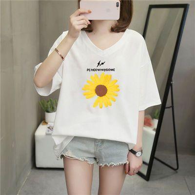 韩版T恤女夏300斤胖妹妹短袖上衣200斤大码宽松遮肉250斤加肥加大