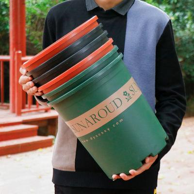 带托盘加仑花盆 PP塑料大花盆 室外阳台绿萝种花种菜玫瑰月季盆