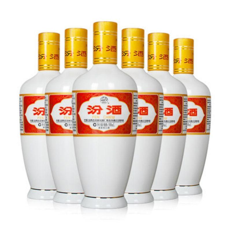 最早国酒,出口瓷瓶:汾酒 53度 清香型纯粱白酒 杏花村酒