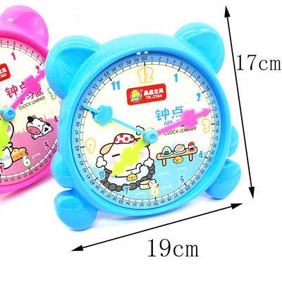 儿童时钟教具小学生认识时间钟点学习器幼儿园教学钟表模型学生用