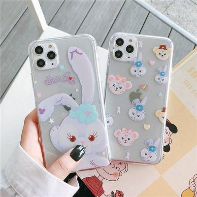 苹果XS芭蕾兔透明手机壳iphone7/8保护套6plus/6splus全包软壳XR