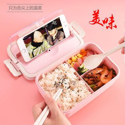 多层三格保温饭盒学生男女儿童日式手提便当微波炉保鲜上班族餐盒