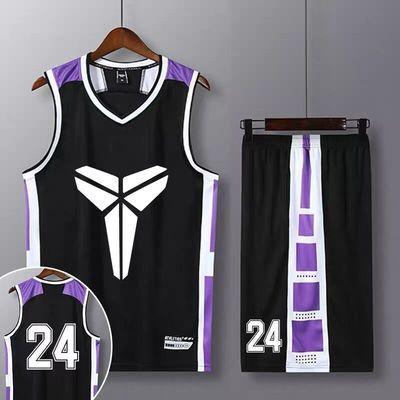 科比篮球服套装男定制詹姆斯23号球衣儿童训练球队比赛球衣篮球男