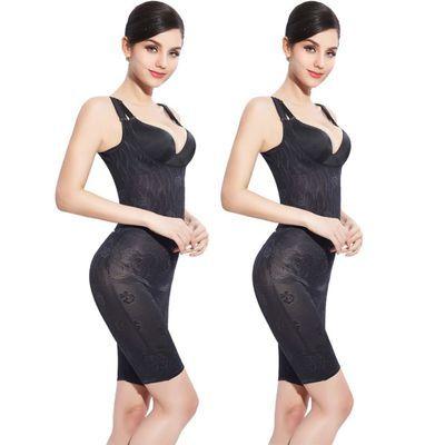 2020爆款{}婷美�S雅加强版薄款无痕后脱式连体塑身衣产后瘦身燃脂