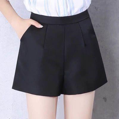 2020新款外穿黑色A字大码短裤女春秋高腰阔腿休闲显瘦夏季宽松款