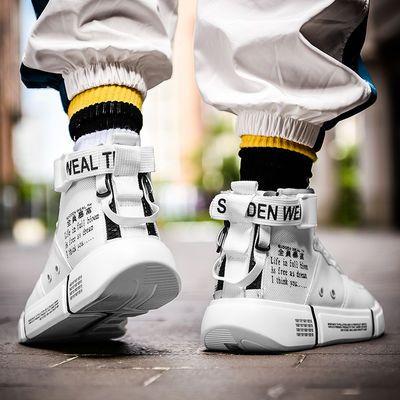 高帮潮鞋子男夏季透气运动篮球鞋休闲板鞋百搭aj空军一号嘻哈男鞋