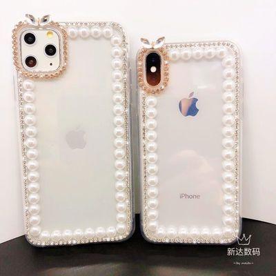 苹果11手机壳xr水钻保护套xsmax软壳iPhoneX/8plus手机保护壳女生