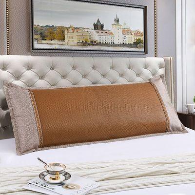 夏季冰丝双人枕套情侣款加长凉爽枕席藤枕头套成人12米15m18