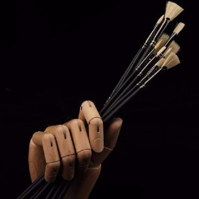 黑骑士水粉笔套装美术专用色彩丙烯水粉画笔美术生专业颜料扇形笔