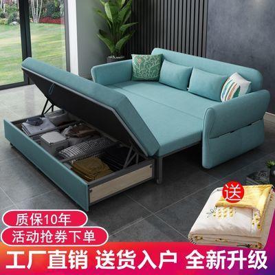 沙发床两用多功能可折叠双人三人布艺拆洗储物客厅书房阳台小户型