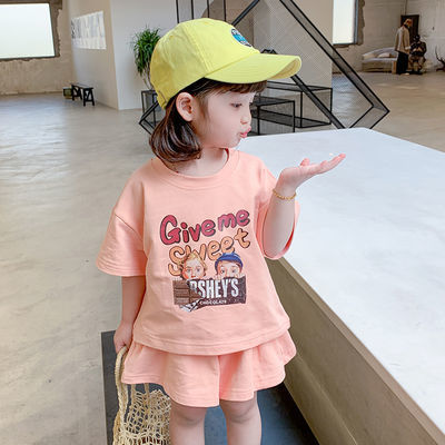 女童夏装套装2020新款夏季宝宝网红儿童装时髦潮洋气小女孩两件套