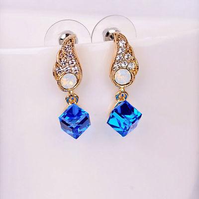 天使之翼翅膀镶钻水晶宝石耳钉可爱韩国精品耳饰厂家