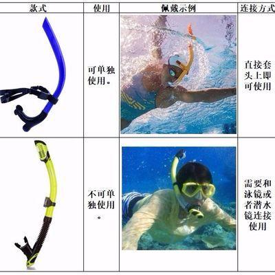 防水呼吸管全干式浮潜潜水眼镜潜水用品游泳训练管浮浅水下呼吸器