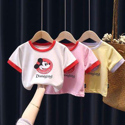 女宝宝短袖T恤夏季新款韩版小童女童纯棉半袖打底衫婴儿上衣0-3岁