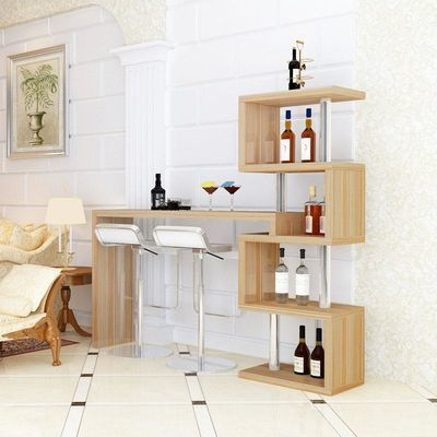 现代简约吧台桌家用客厅简易酒吧桌酒柜餐桌转角隔断柜靠墙小吧台