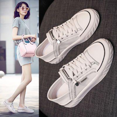 小白鞋女鞋ins潮2020春季新款网红两穿休闲鞋女单鞋百搭平底板鞋