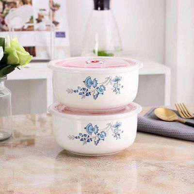陶瓷大碗泡面碗带盖碗筷套装学生宿舍碗饭盒上班族保鲜饭盒便当盒