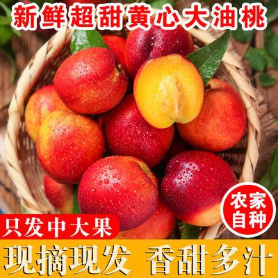 现摘现发脆甜黄心大油桃新鲜水果3/5斤当季整箱包邮应季孕妇水果