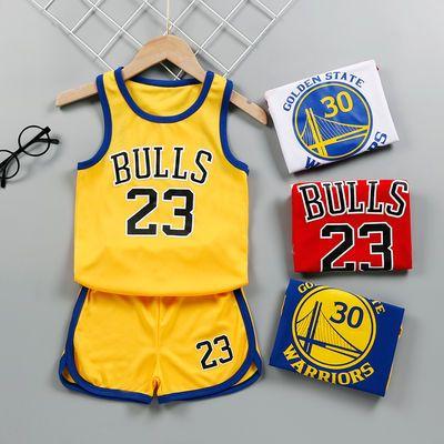 儿童篮球服套装夏天男童女童中大童球衣男孩户外运动背心两件套