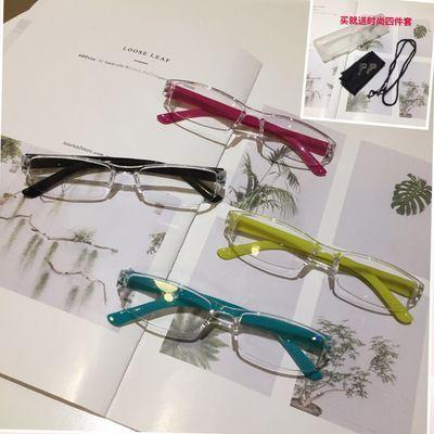 【送四件套】日本原单超轻一体老花眼镜时尚简约老人镜男女抗疲劳