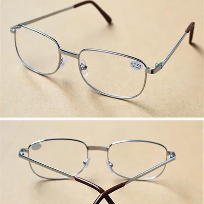 限时亏本大框金属老花眼镜高清树脂镜片男女通用老花镜防疲劳眼镜