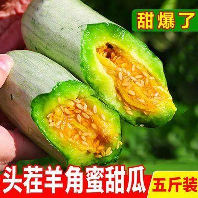 山东羊角蜜甜瓜现摘孕妇水果新鲜脆甜香瓜当季应季羊角瓜博洋蜜瓜