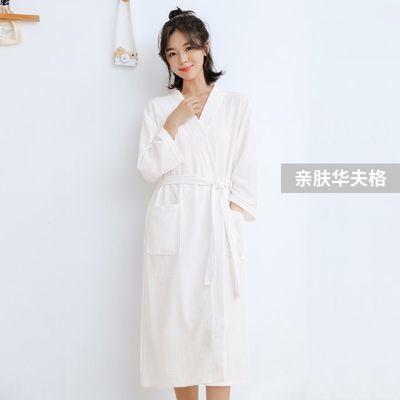 新款开衫顾客女款睡袍女夏纯棉 日式春夏季袖套浴裙夏薄裙子浴衣