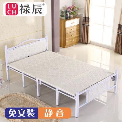 折叠床双人单人午休床办公室宿舍简易板床出租房家用成人铁床经济