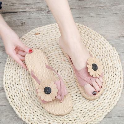 防滑拖鞋女夏外穿网红人字拖夏天凉鞋女学生韩版平底新款凉拖时尚