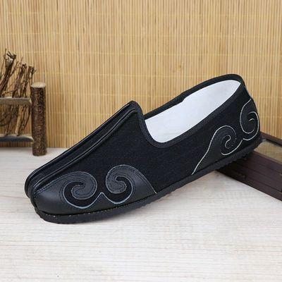 民族风云头洒鞋男单鞋春秋透气低帮防滑中老年老北京布鞋传统复古