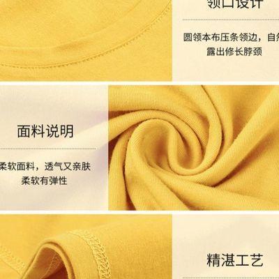 褶皱打底衫白色韩版上衣夏季短袖衣韩宽松外贸t恤纯色黄色新款