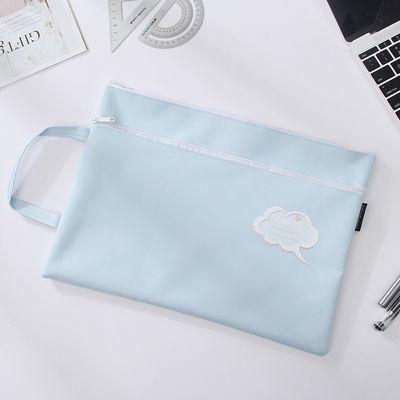 韩国时尚A4防水文件袋学生手提试卷拉链袋孕妇产检资料证件收纳袋